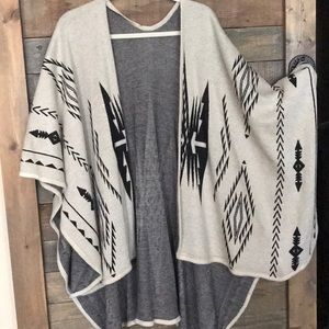 Francesca's boho / tribal poncho vest O/S